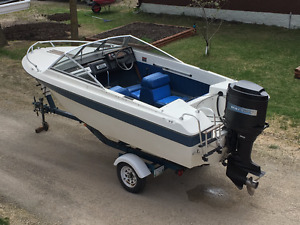 16 foot Boat Motor and Trailer for sale