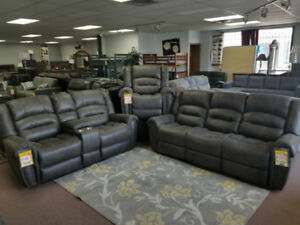 3 PIECE RECLINER SETS, $899 AND UP. WOW