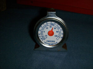 VINTAGE FREEZER THERMOMETER-STAINLESS-1960/70'S-UNIQUE