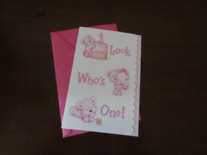 Brand new First 1st Birthday greeting card baby girl London Ontario image 1