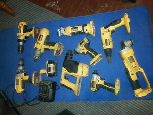 9 Piece 18v dewalt tool kit