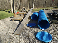 Agility Equipment, complete outdoor.
