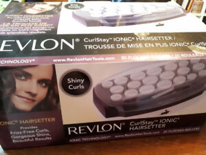 Ionic hair curlers - all pieces included! Only used 3 times!
