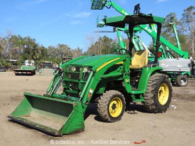 2011 John Deere 3320 4WD Utility Ag Loader Tractor 3-Pt Hitch PTO bidadoo