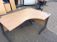 4 x great quality corner office desk on clearance @ just £40