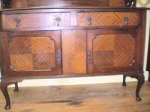 Unique Early Sideboard Buffet w/ Mirror London Ontario image 7