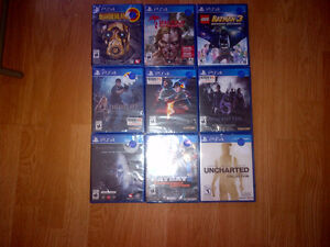 sealed playstation 4 games $15.00 per or 2 for $25.00