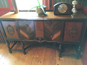 Beautiful Antique Buffet & Cabinet