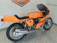 1980 Rickman CR Honda CB750 in orange.