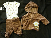 Baby Girl Size Newborn Clothing Lot - 32 Pieces For $20