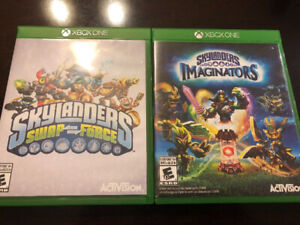 2 XBOX ONE SKYLANDER GAMES, SWAP FORCE AND IMAGINATORS