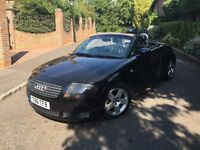 AUDI TT QUATTRO 2002 CONVERTIBLE BLACK FULLY LOADED LEATHER F S HISTORY PRIVATE PLATE