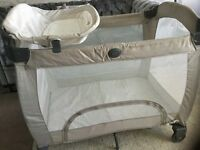 Graco deluxe travel cot with changing area