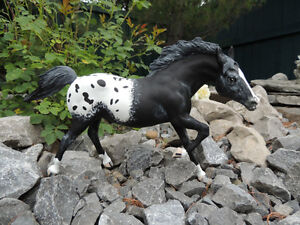 Custom Painted Breyer Horse - Rubik's Cube