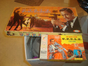 VINTAGE 1965 IDEAL THE MAN FROM U.N.C.L.E. BOARD GAME/CARD GAME