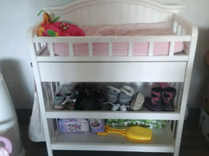 Girls bed and change table