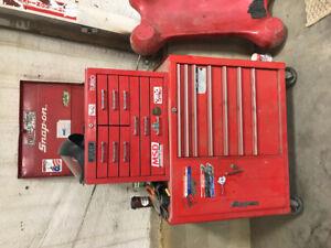 Snap on tool box and grey box