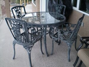 Wrought Iron 5 pc Dining Set