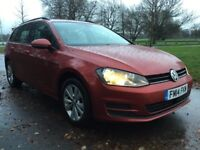 Volkswagen Golf SE 1.6 TDI 105PS BlueMotion Tech (red) 2014