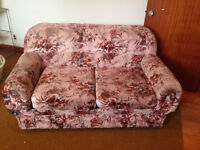 Estate sale love seat, chair & automan