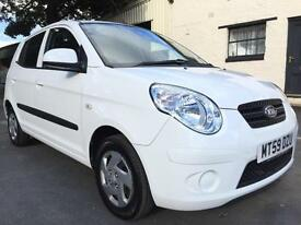 2010 59 Kia Picanto 1 1.0 5 Door Clear White **ONE LADY OWNER, LOW MILEAGE**