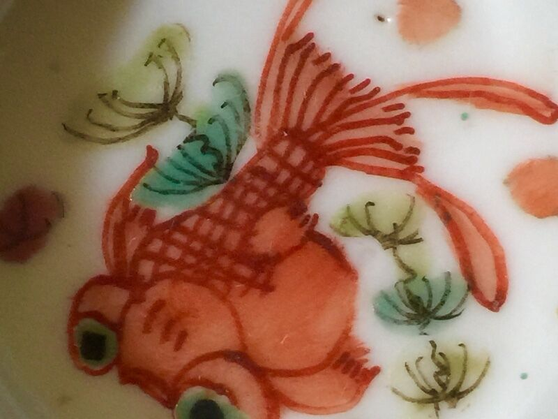 Qing Dynasty Antique Goldfish (金鱼满堂 )