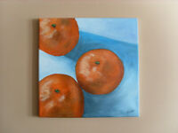 12 x 12 Acrylic wall art painting on canvas: Oranges