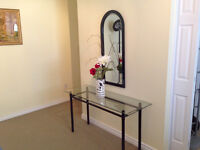 Modern Style Display Table and Mirror
