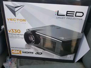 vector v330 led 3d projector with screen