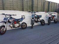 3 pit bike for sale stomp WPB crf honda juice box 125cc 110cc 50cc