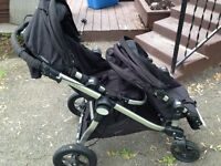 City select double stroller and car seat adapter