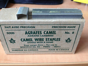 Box of 5000 Staples with a HUMP for use in Bostitch No. B8