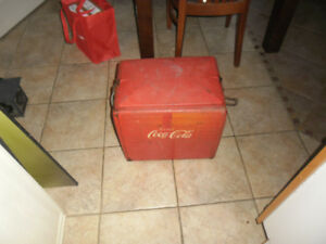 1950's Coke Coca Cola Metal Pop Cooler French Edition