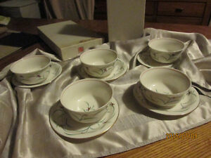 Koransha Japanese Porcelin Bowls and saucers set of 5