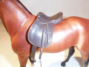 2 Breyer Horse Englishd Dark Brown Saddle