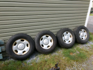 "F-150 17"" rims and studded tires"