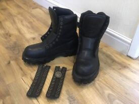 Grinders Leather Boots, Steel Toe Caps, size 6