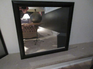 Mirror - Black , Square. Great for powder room/bathroom.