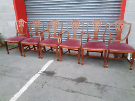6 Shield Back Chairs
