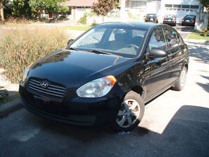 2008 Hyundai Accent BLACK Sedan