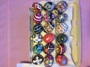 Pysanky painted eggs