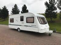 Compass corona 534 4 berth caravan with fixed bed excellent condition