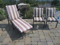 Patio chairs and lounges