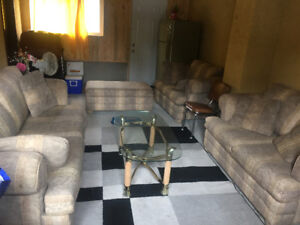 4 piece sofa set with centre table