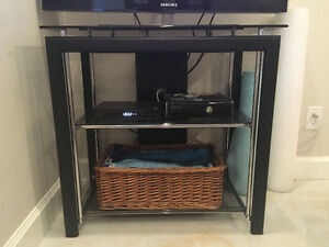 TV stand -glass shelving