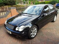 Mercedes C180 Kompressor saloon - for sale. Obsidian Black