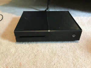 Xbox one, with games, headset, controller and controller charger