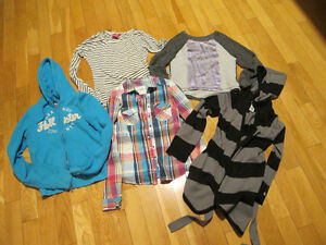 LOT DE VÊTEMENTS POUR FILLETTE GUESS, VOLOTIGE, GARAGE, HOLLISTE