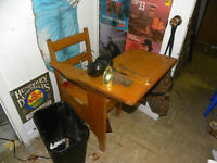 antique newfoundland 50's school desk