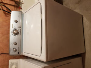 Working used white washer and dryer